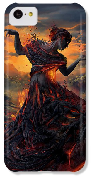 Elements - Fire IPhone 5c Case by Cassiopeia Art