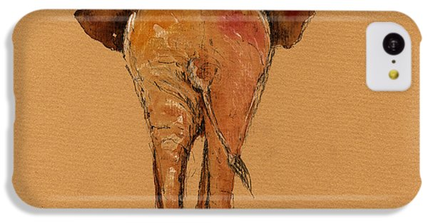 Elephant Back IPhone 5c Case by Juan  Bosco