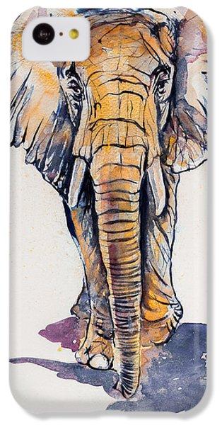 Elephant In Gold IPhone 5c Case by Kovacs Anna Brigitta