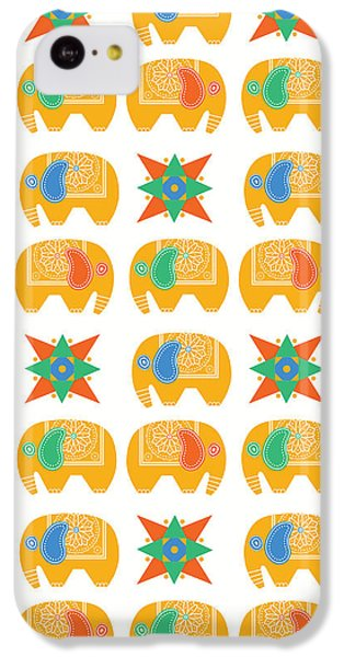 Elephant Print IPhone 5c Case by Susan Claire