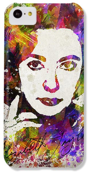 Elizabeth Taylor iPhone 5c Case - Elizabeth Taylor In Color by Aged Pixel