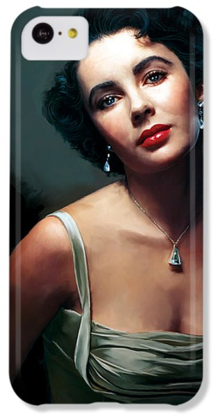 Elizabeth Taylor IPhone 5c Case by Paul Tagliamonte