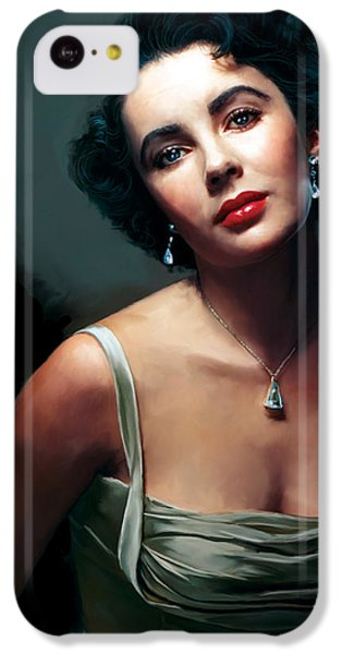 Elizabeth Taylor iPhone 5c Case - Elizabeth Taylor by Paul Tagliamonte