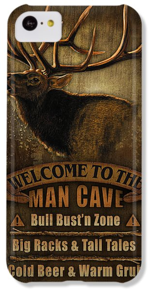 Pheasant iPhone 5c Case - Elk Man Cave Sign by JQ Licensing