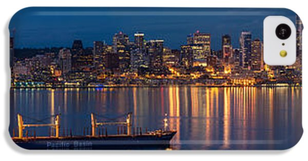 Elliott Bay Seattle Skyline Night Reflections  IPhone 5c Case