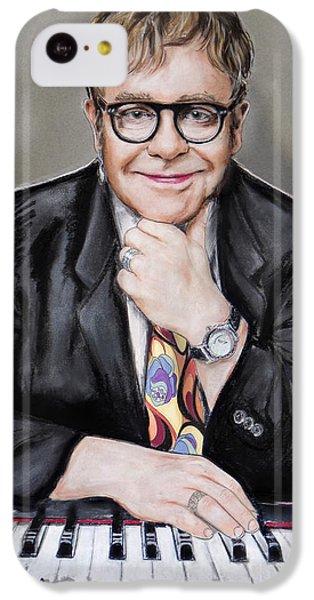 Elton John IPhone 5c Case by Melanie D