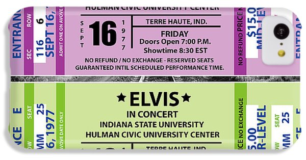 Elvis Presely Tickets IPhone 5c Case