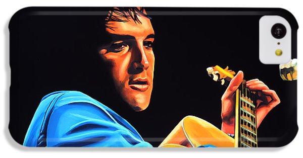 Elvis Presley 2 Painting IPhone 5c Case by Paul Meijering