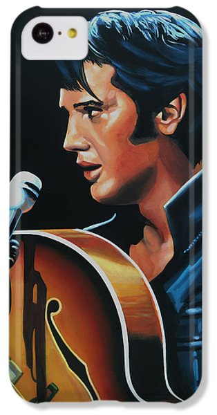 Rhythm And Blues iPhone 5c Case - Elvis Presley 3 Painting by Paul Meijering