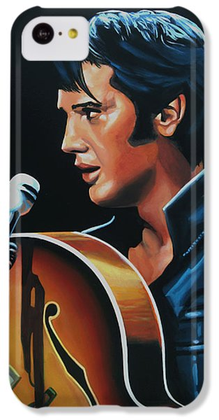 Elvis Presley 3 Painting IPhone 5c Case by Paul Meijering
