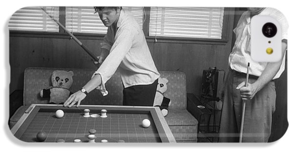 Elvis Presley And Vernon Playing Bumper Pool 1956 IPhone 5c Case by The Harrington Collection