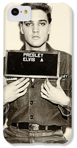 Elvis Presley - Mugshot IPhone 5c Case by Bill Cannon