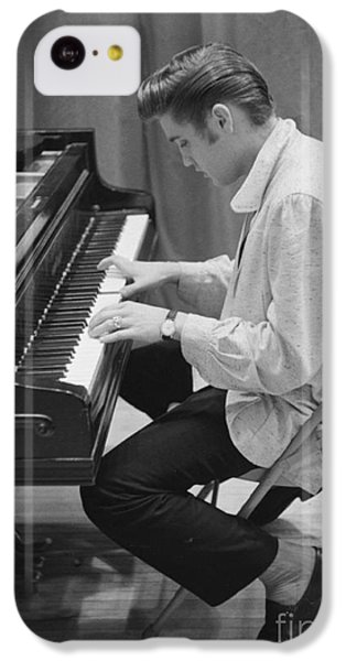 Elvis Presley On Piano While Waiting For A Show To Start 1956 IPhone 5c Case by The Harrington Collection