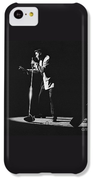 Elvis Presley On Stage In Detroit 1956 IPhone 5c Case by The Harrington Collection