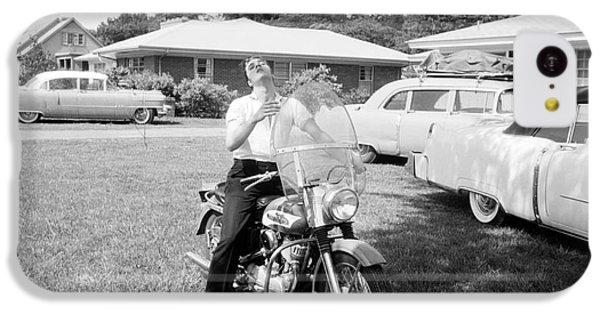 Elvis Presley With His 1956 Harley Kh IPhone 5c Case