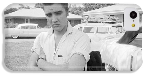 Elvis Presley With His Cadillacs 1956 IPhone 5c Case by The Harrington Collection