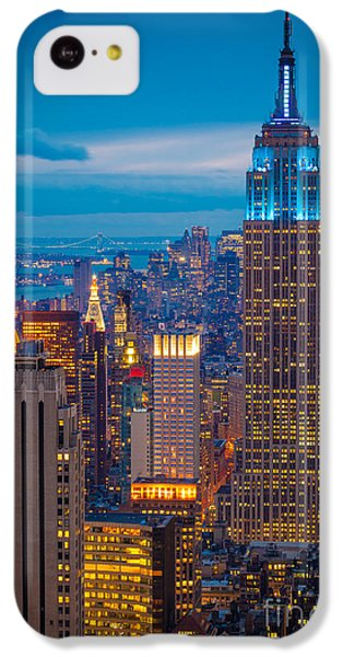 Empire State Blue Night IPhone 5c Case by Inge Johnsson