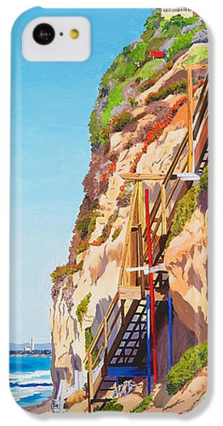 Seagull iPhone 5c Case - Encinitas Beach Cliffs by Mary Helmreich