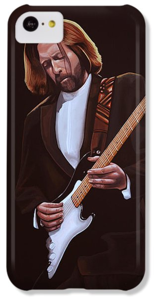 Eric Clapton iPhone 5c Case - Eric Clapton Painting by Paul Meijering