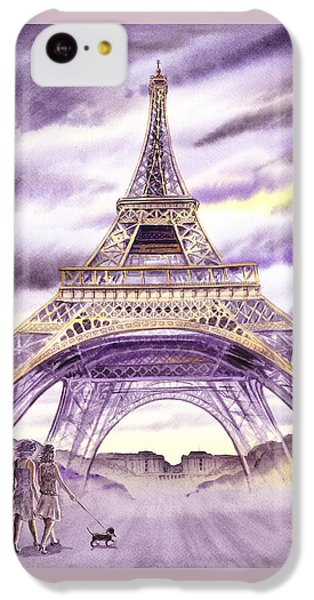 Evening In Paris A Walk To The Eiffel Tower IPhone 5c Case