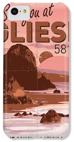 Aliens iPhone 5c Case - Exoplanet 01 Travel Poster Gliese 581 by Chungkong Art