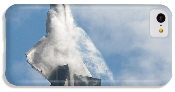 IPhone 5c Case featuring the photograph F-22 Raptor Creates Its Own Cloud Camouflage by Nathan Rupert
