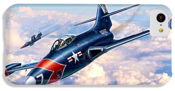 F9f-5p Photo Panthers IPhone 5c Case by Stu Shepherd