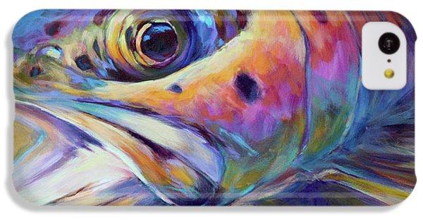 Face Of A Rainbow- Rainbow Trout Portrait IPhone 5c Case by Savlen Art