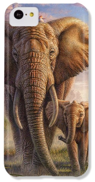 Cow iPhone 5c Case - Family Stroll by Phil Jaeger