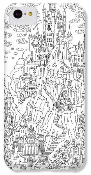 Castle iPhone 5c Case - Fantasy Landscape. Fairy Tale Castle On by L. Kramer