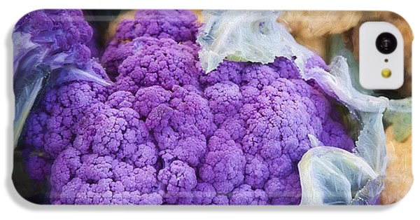 Farmers Market Purple Cauliflower Square IPhone 5c Case by Carol Leigh