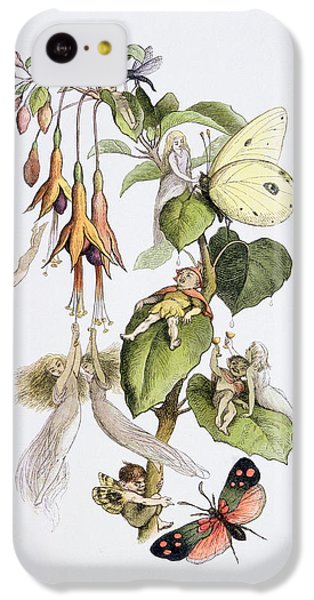 Feasting And Fun Among The Fuschias IPhone 5c Case by Richard Doyle