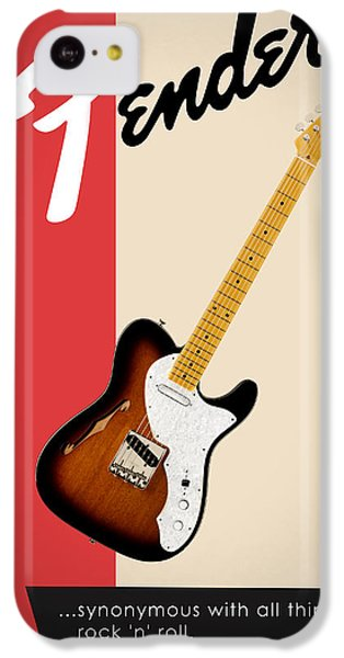 Guitar iPhone 5c Case - Fender All Things Rock N Roll by Mark Rogan
