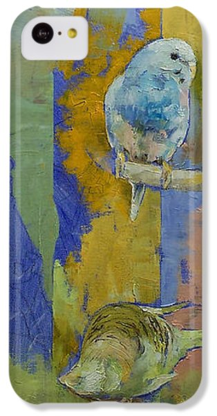Parakeet iPhone 5c Case - Feng Shui Parakeets by Michael Creese