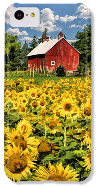 Field Of Sunflowers IPhone 5c Case by Christopher Arndt