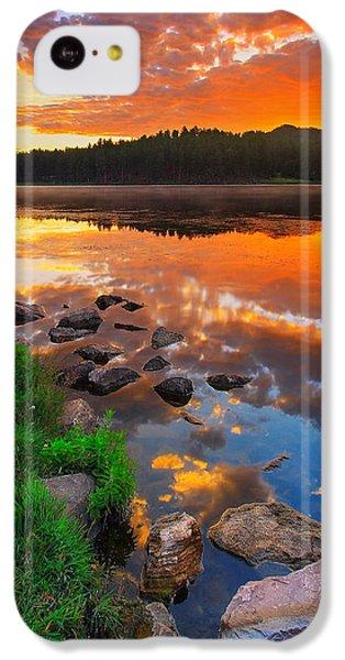 Orange iPhone 5c Case - Fire On Water by Kadek Susanto