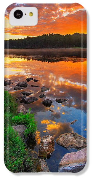 Landscapes iPhone 5c Case - Fire On Water by Kadek Susanto