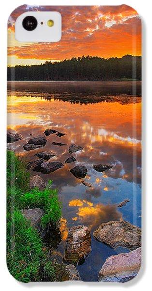 Landscapes iPhone 5c Case - Fire On Water by Kadek Susanto