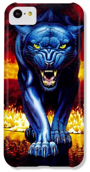 Fire Panther IPhone 5c Case by MGL Studio - Chris Hiett