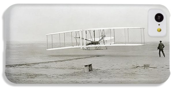 First Flight Captured On Glass Negative - 1903 IPhone 5c Case by Daniel Hagerman
