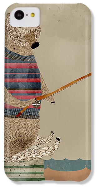 Brown Bear iPhone 5c Case - Fishing For Supper by Bleu Bri