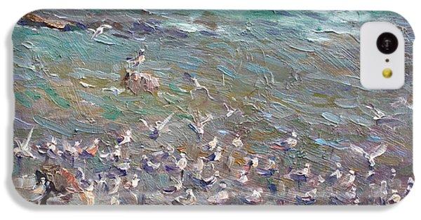 Seagull iPhone 5c Case - Fishing Time by Ylli Haruni