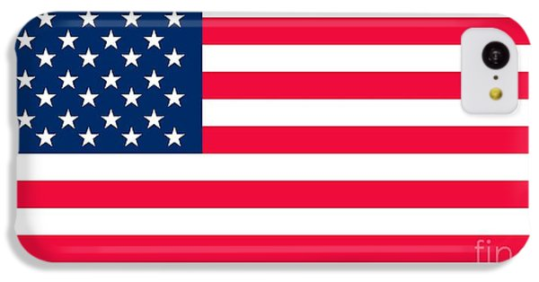 Landmarks iPhone 5c Case - Flag Of The United States Of America by Anonymous