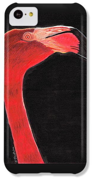 Flamingo Art By Sharon Cummings IPhone 5c Case by Sharon Cummings