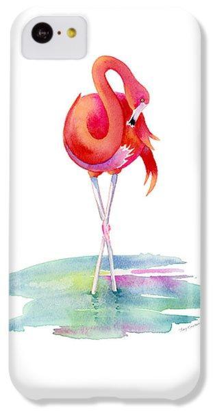 Flamingo iPhone 5c Case - Flamingo Primp by Amy Kirkpatrick