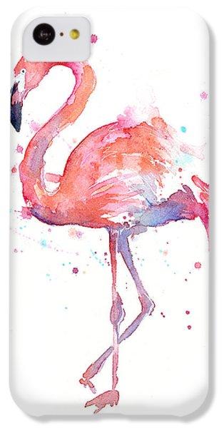 Flamingo Watercolor IPhone 5c Case
