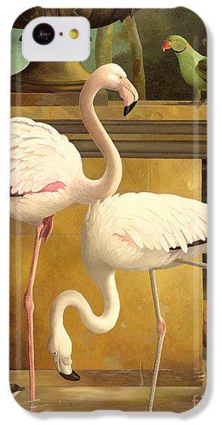 Parakeet iPhone 5c Case - Flamingos by Lizzie Riches