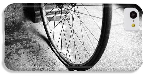 IPhone 5c Case featuring the photograph Flat Bicycle Tire by Dave Beckerman