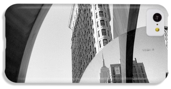 IPhone 5c Case featuring the photograph Flat Iron Building Empire State Mirror by Dave Beckerman