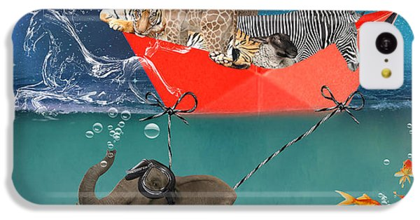 Floating Zoo IPhone 5c Case by Juli Scalzi